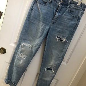 AE ripped jeans and Uniqlo jeans
